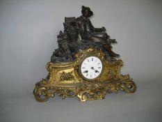 """Kaminuhr Wien um 1880, J. Weber Wien, Pendulen Werk """"S.G.a Paris Nr. 1596-294"""", Schlag auf Glocke,"""