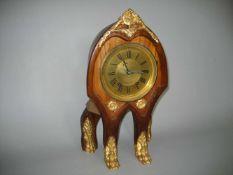 """Haus Uhr, Unikat, Kirschbaumgehäuse, Bronzebeschläge, Werk: """"Ch Vnce Nr. 13853, Schlag auf Glocke, H"""