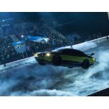 """""""Gear Factor"""" Helium Filled Flying Full Size Green/Black Dodge Challenger Model with 4 Electric"""