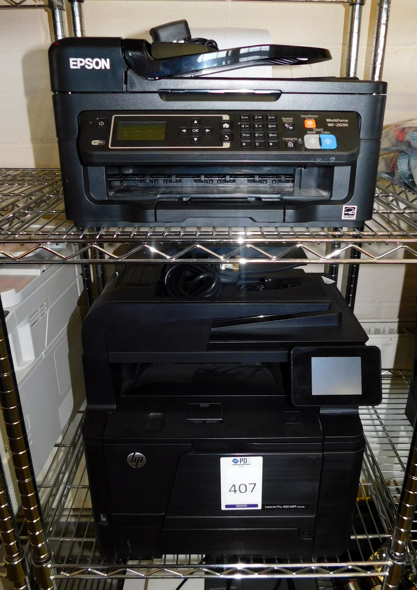 Los 407 - HP LaserJet Pro 400 MFP & Epson Workforce 2630 Printers (Located Stockport – See General Notes for