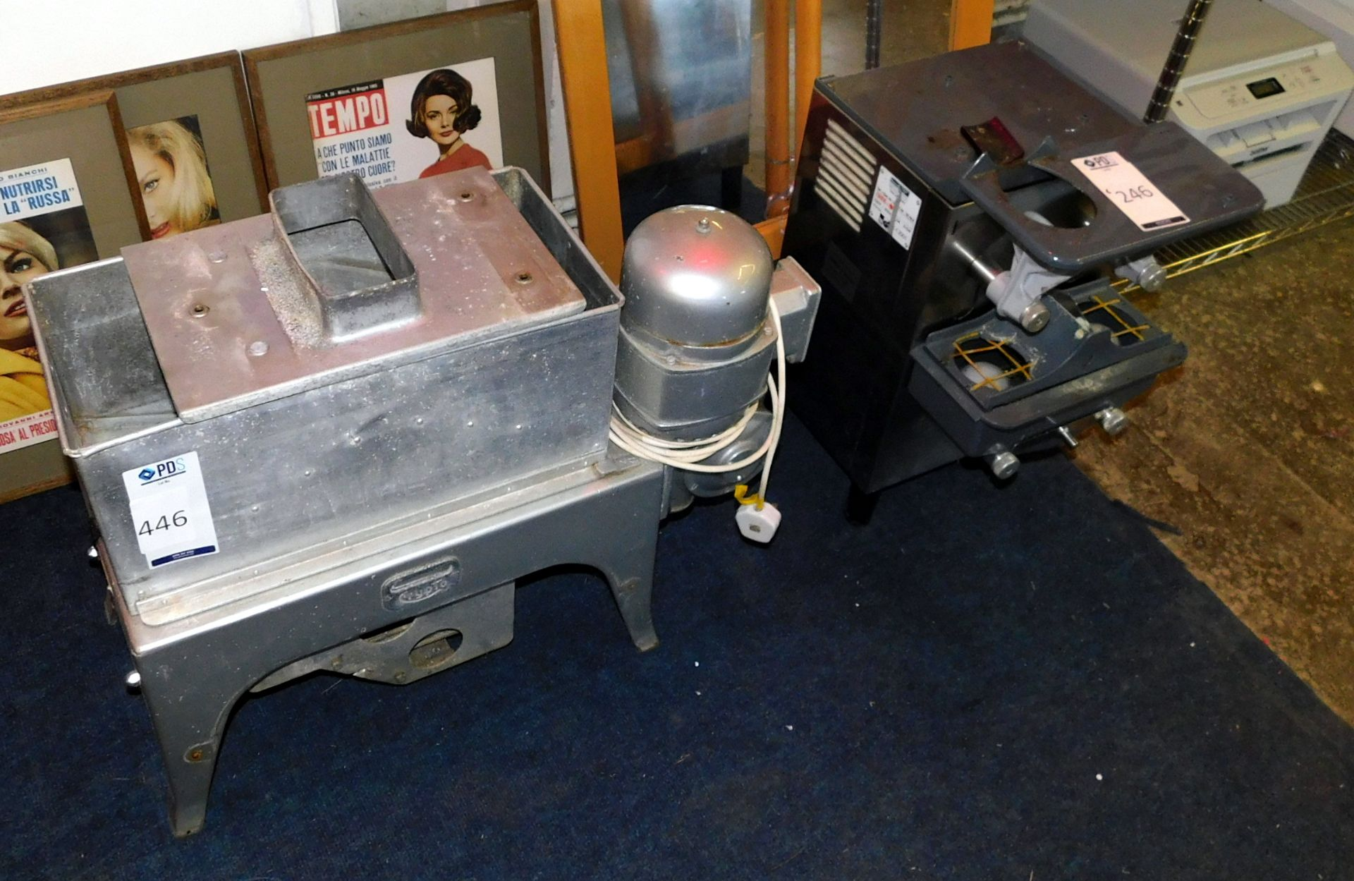 Los 446 - Crypto Food Preparation Machine & Zummo Juicer (For Spares) (Located Stockport – See General Notes