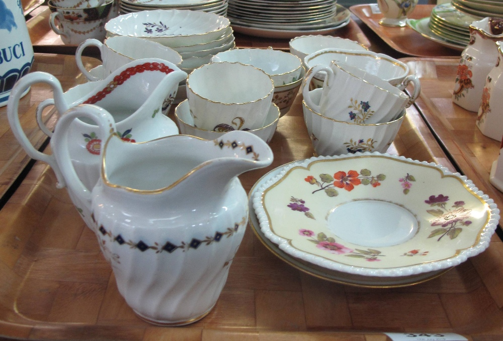 Lot 343 - Collection of early Worcester porcelain mainly Flight, Barr & Barr to include; cups, saucers,
