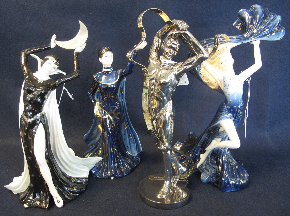 Lot 1 - Set of seven Wedgwood bone china 'Galaxy Collection' figurines,