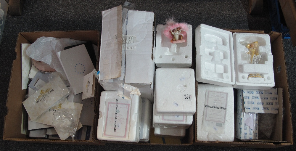 Lot 276 - Three boxes of collectors figurines by The Bradford Exchange,