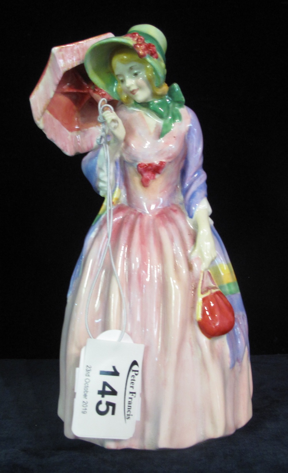 Lot 145 - Royal Doulton bone china figurine 'Miss Demure' HN1402 potted by Doulton & Co. (B.P. 24% incl.