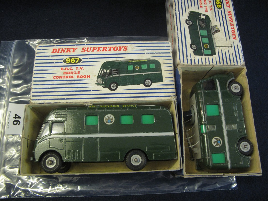Lot 46 - Dinky Supertoys 967 BBC TV mobile control room van,