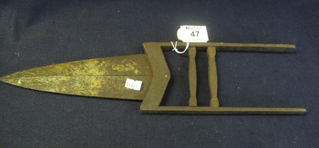 Lot 47 - Katar Indian triple bladed punch dagger. (B.P. 24% incl.