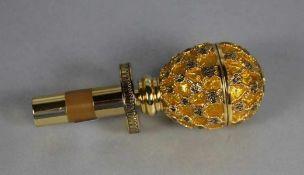 Flaschenverschluss Schmuck-Ei20. Jhd., Flaschenveschluss in der Art eines Fabergeé-Eis mit