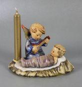 Hummel EngelsfigurGoebel, Hummel, Wiegenlied, Gitarrenengel mit Jesukindlein, als Kerzenhalter,
