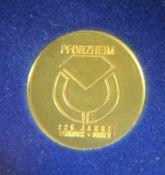 Goldmedaille Pforzheim999er GG, Medaille Pforzheim 225 Jahre Schmuck und Uhren, in Schatulle, Gebr.