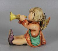 Hummel EngelsfigurGoebel, Hummel, O, du fröhliche, Trompetenengel, farbig staffiert, mehrfach