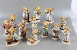 Hummel Engels-GruppeGoebel, Hummel, 13 tlg, Himmlische Synfoniker, z.T. Erste Ausgabe, z.T.