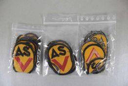 Konvolut ASV-Abzeichen u. Plakettenoriginal aus NVA-Beständen, 21tlg., bestehend aus 3 Medaillen der