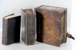 Konvolut Predigtbücher3 Stk. Bücher, davon 2 Predigtbücher Johann Friedrich Starck, Reutlingen 1844,