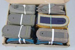 großer Satz NVA-Schulterstückeoriginal aus NVA-Beständen, 96 Stk, 48 Paar Schulterstücke, Marine,