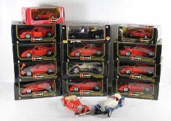 Konvolut Bburago-Modellautos15 Stk., 14mal Bburago, verschiedene Modellautos, zumeist in die-cast