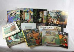 Konvolut Kunstbücher18 Stk., Kunstbücher, z.T. Ausstellungskataloge, Monet, Cranach, Dali,