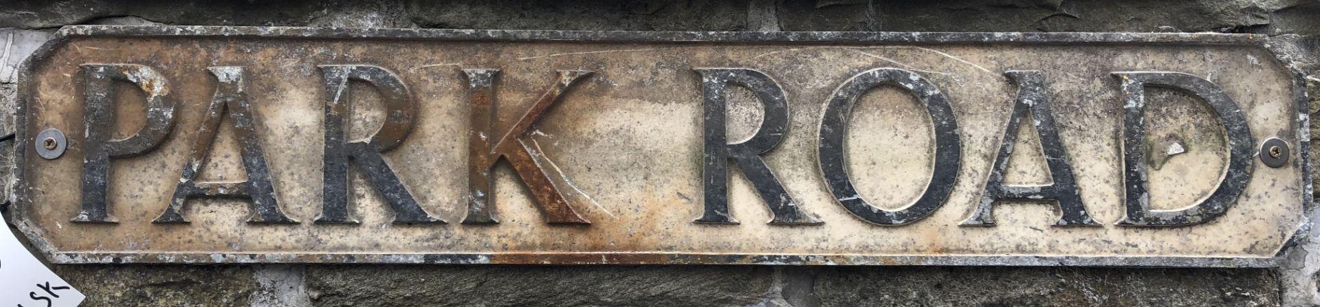 """Lot 6 - Aluminium Street Sign """"Park Road"""""""