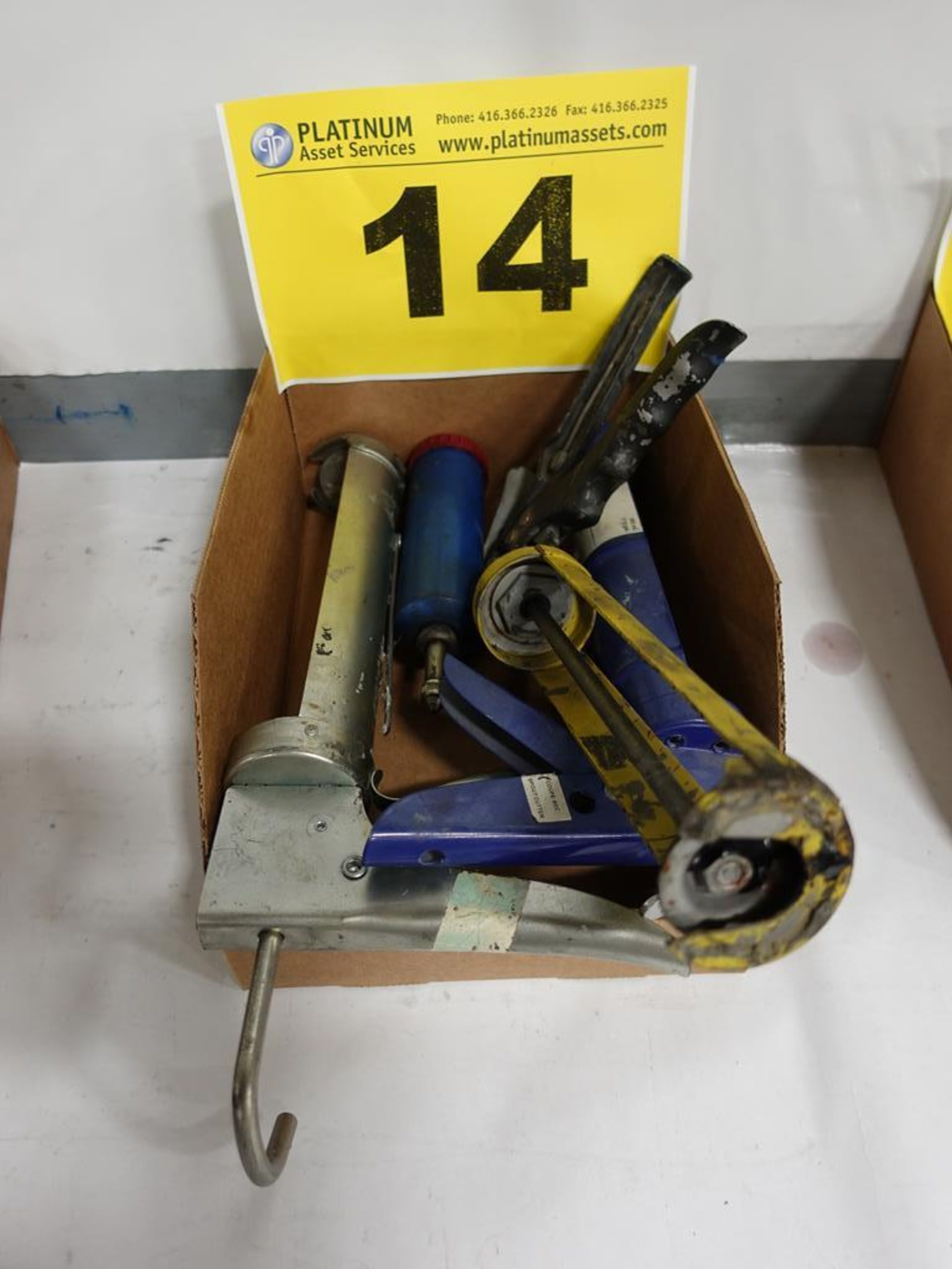 Lot 14 - LOT OF ASSORTED CAULKING GUNS