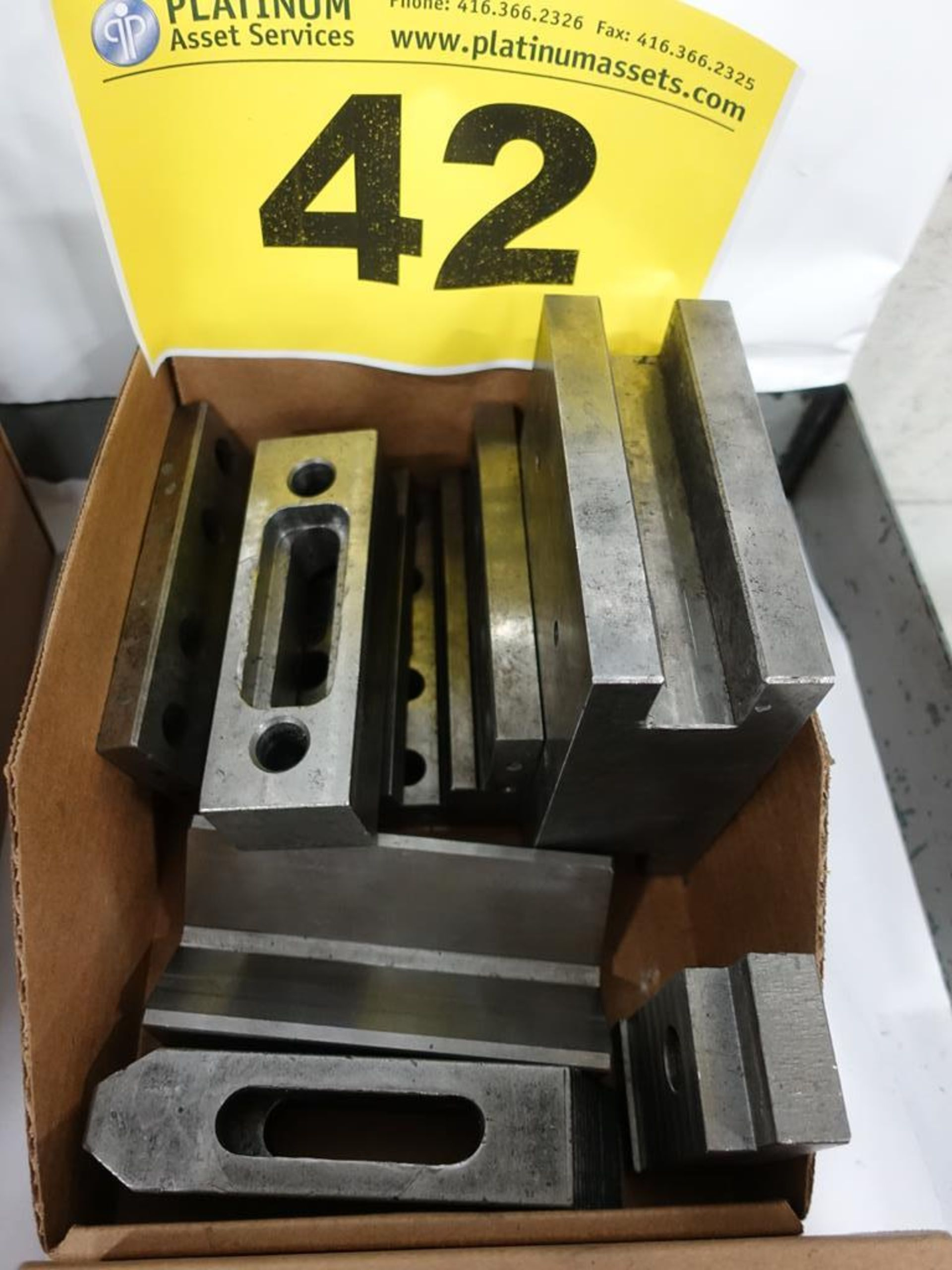 Lot 42 - LOT OF ASSORTED CLAMPS AND SPACERS