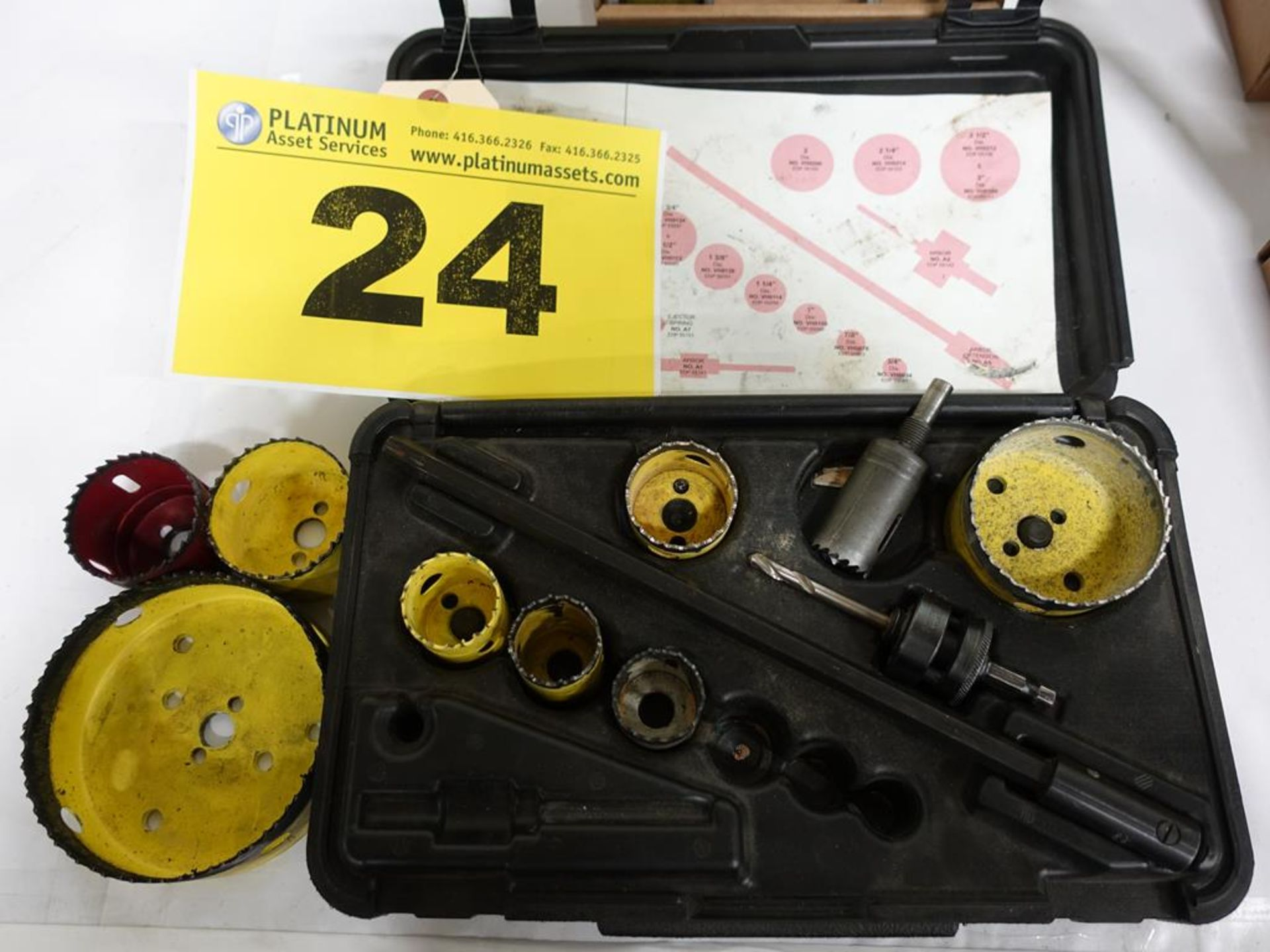 Lot 24 - STARRETT, KV291, WHOLE SAW SET