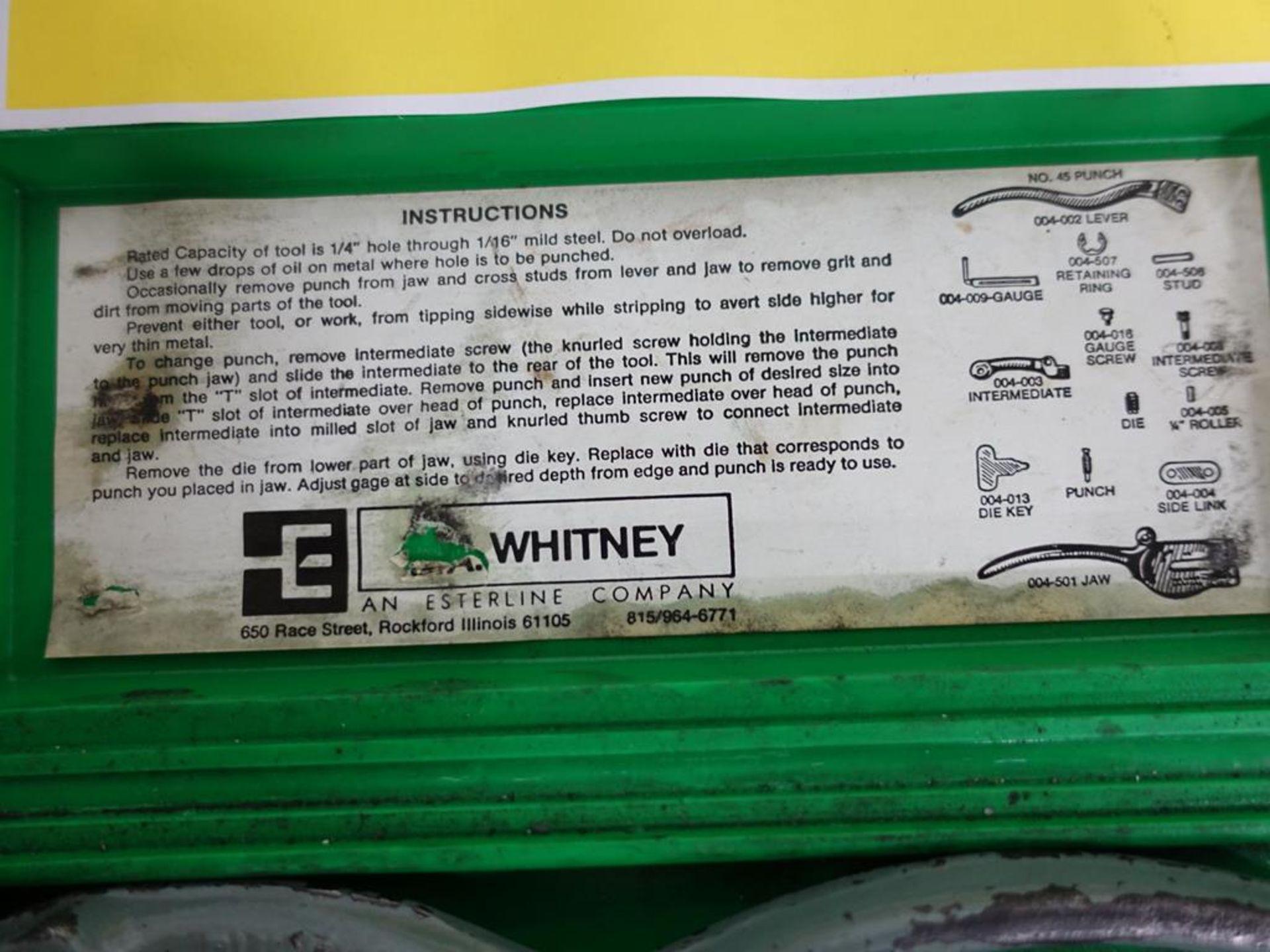 Lot 16 - WHITNEY, PUNCH SET