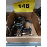 "Lot 14B - LOT OF C CLAMPS - (3) 5"", (6) 7"""