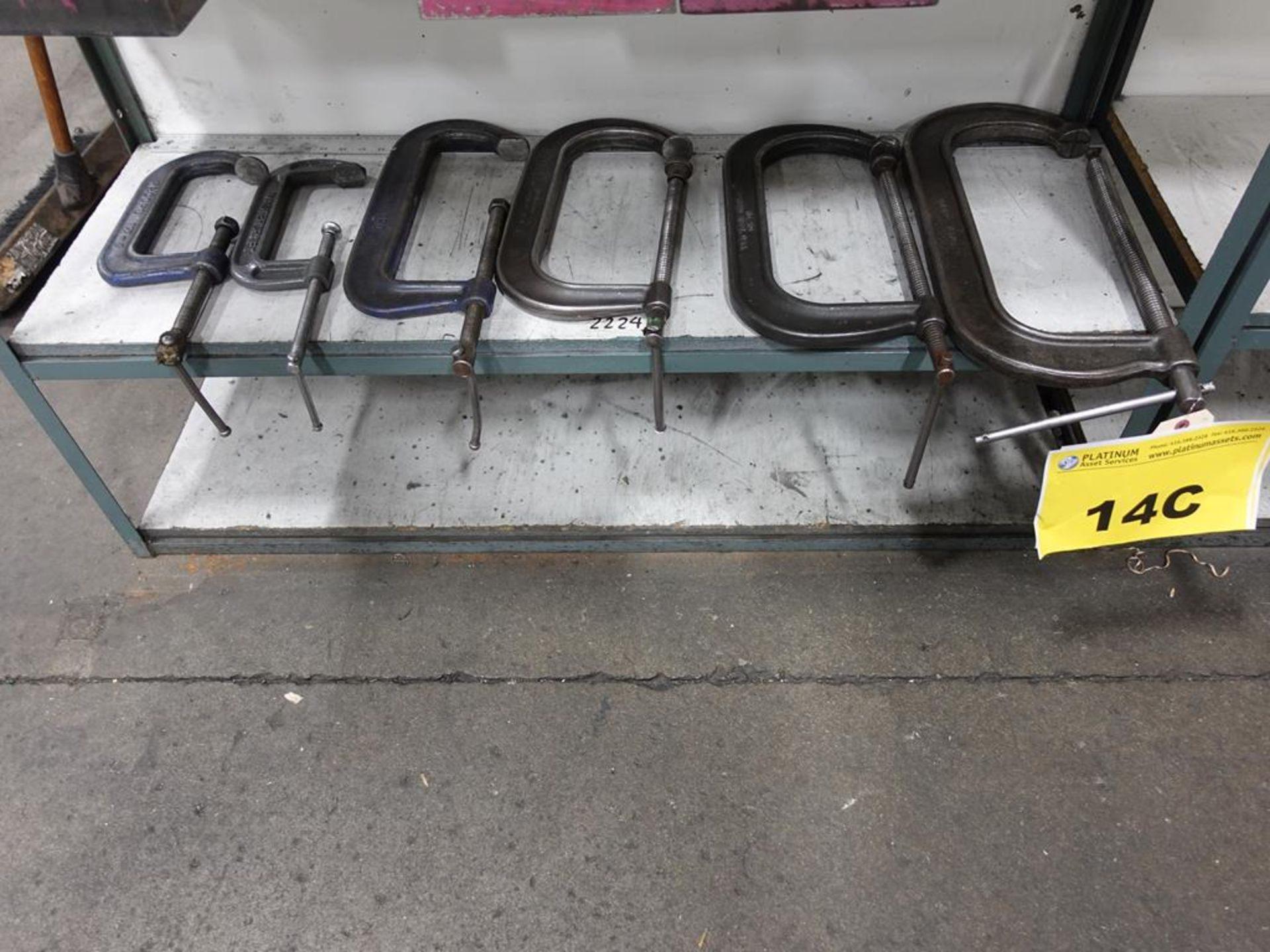 """Lot 14C - LOT OF C CLAMPS - (2) 7"""", (2) 12"""", (1) 13"""", (1) 15"""""""
