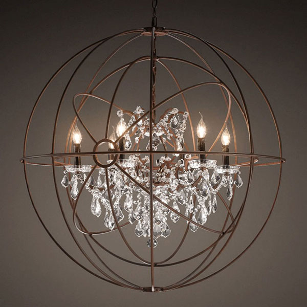 Lot 55 - Gyro Crystal Chandelier (UK) Antique Rust The Gyro Crystal Lighting Collection Is Inspired By