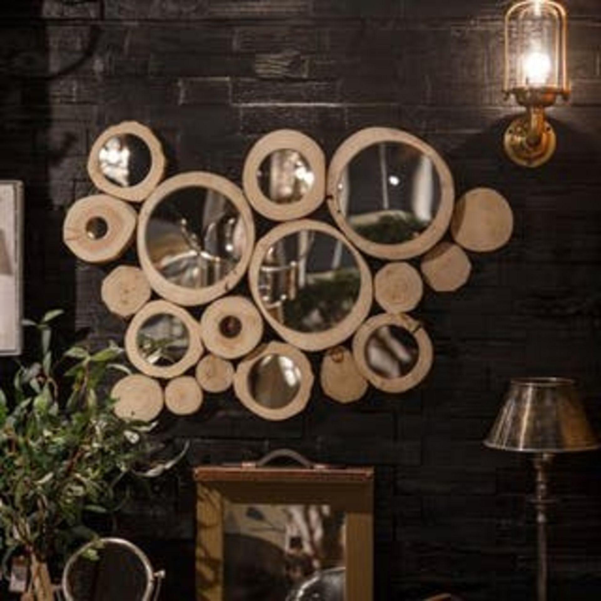 Lot 33 - Bleu Nature M214 Cirkel Mirror Finished In: Natural Oak Dimensions: 43 X 6 X 35cm RRP £530