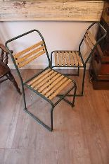 Lot 26 - Wimbledon Chair Antique White 52 X 45.7 X 84.5cm Inspired By Vintage School Dining Chairs The