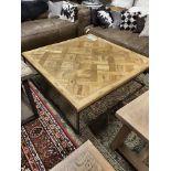 Lot 96 - Arlington Coffee Table Saloon & Iron 122.9 X 122.9 X 40cm