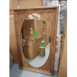 Lot 60 - Irish Mirror Genuine English Reclaimed Timber 110 X 180cm