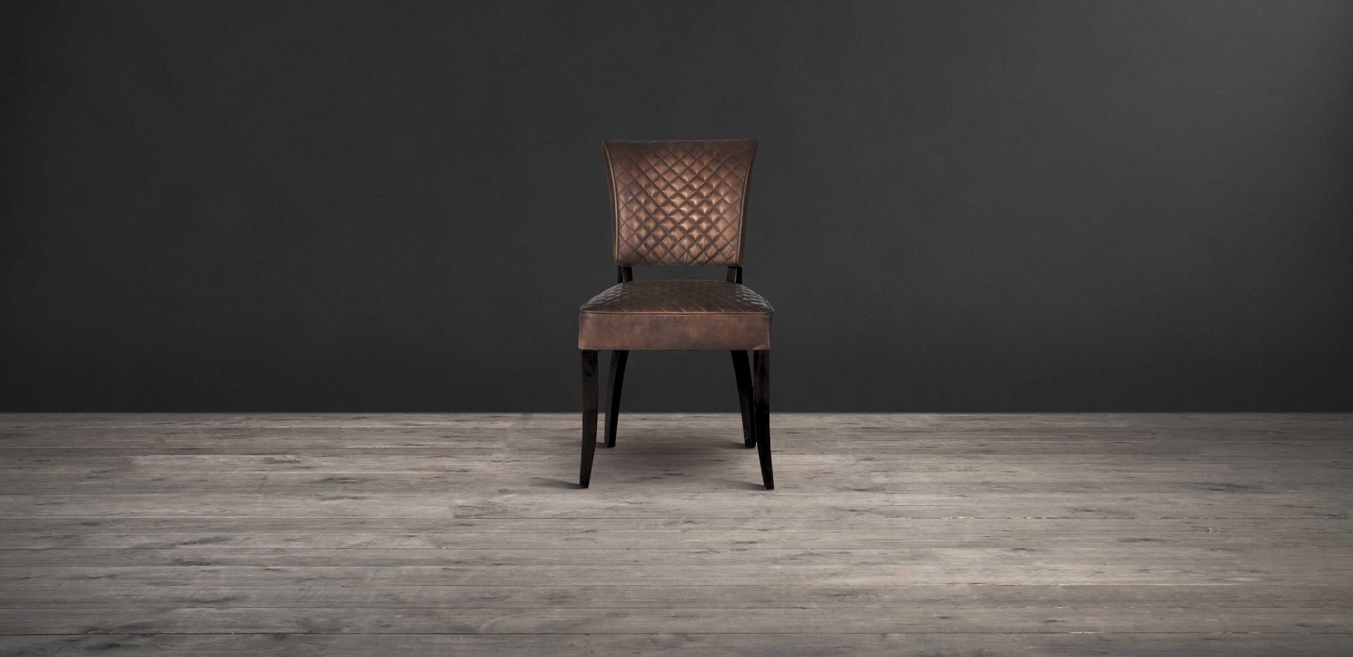 Lot 4 - Mimi Quilted Dining Chair Antique Whisky Leather Weathered Oak Quilted Leather Is A Classic, From