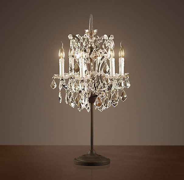 Lot 35 - Crystal Chandelier Table Lamp The Crystal Chandelier Collection Is Inspired By The Elaborate Designs