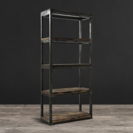 Lot 57 - Axel Mk2 Bookcase Genuine Reclaimed Vintage Boat Wood Natural Combines Old World And Industrial With