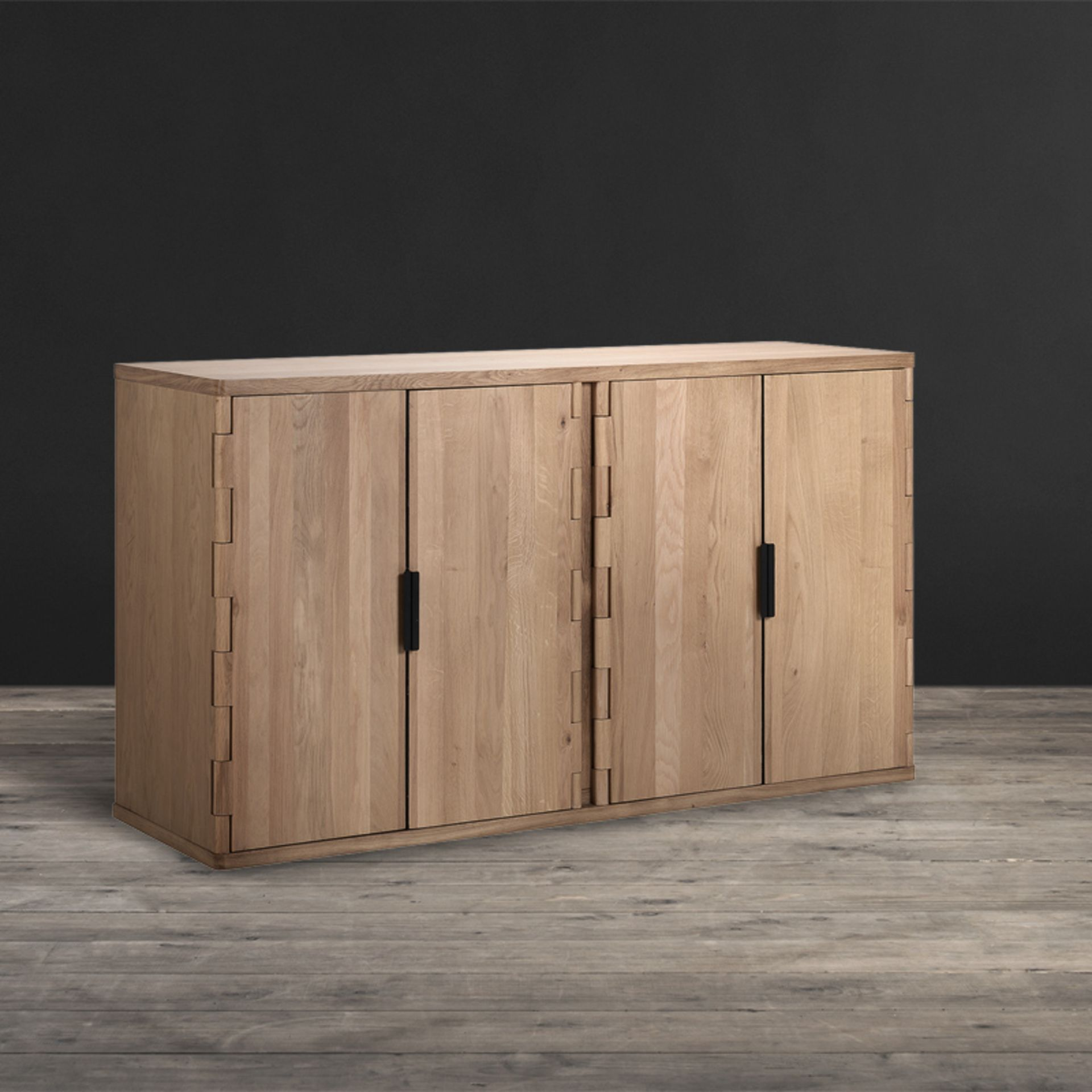 Lot 54 - Hinge Pure Oak Sideboard For Spaces When Less Is Even More, The Capacious Interior Of The Hinge