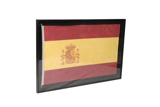Lot 766 - Flag Shadow Box Spain A Visually Compelling Addition To Any Room With A Bold Graphic Print, Our Flag
