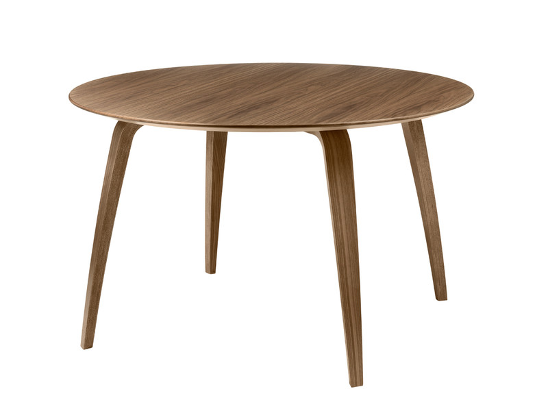 Lot 144 - Gubi Round Dining Table Walnut 120cm Minimalist With An Organic Expression, The Gubi Round Dining
