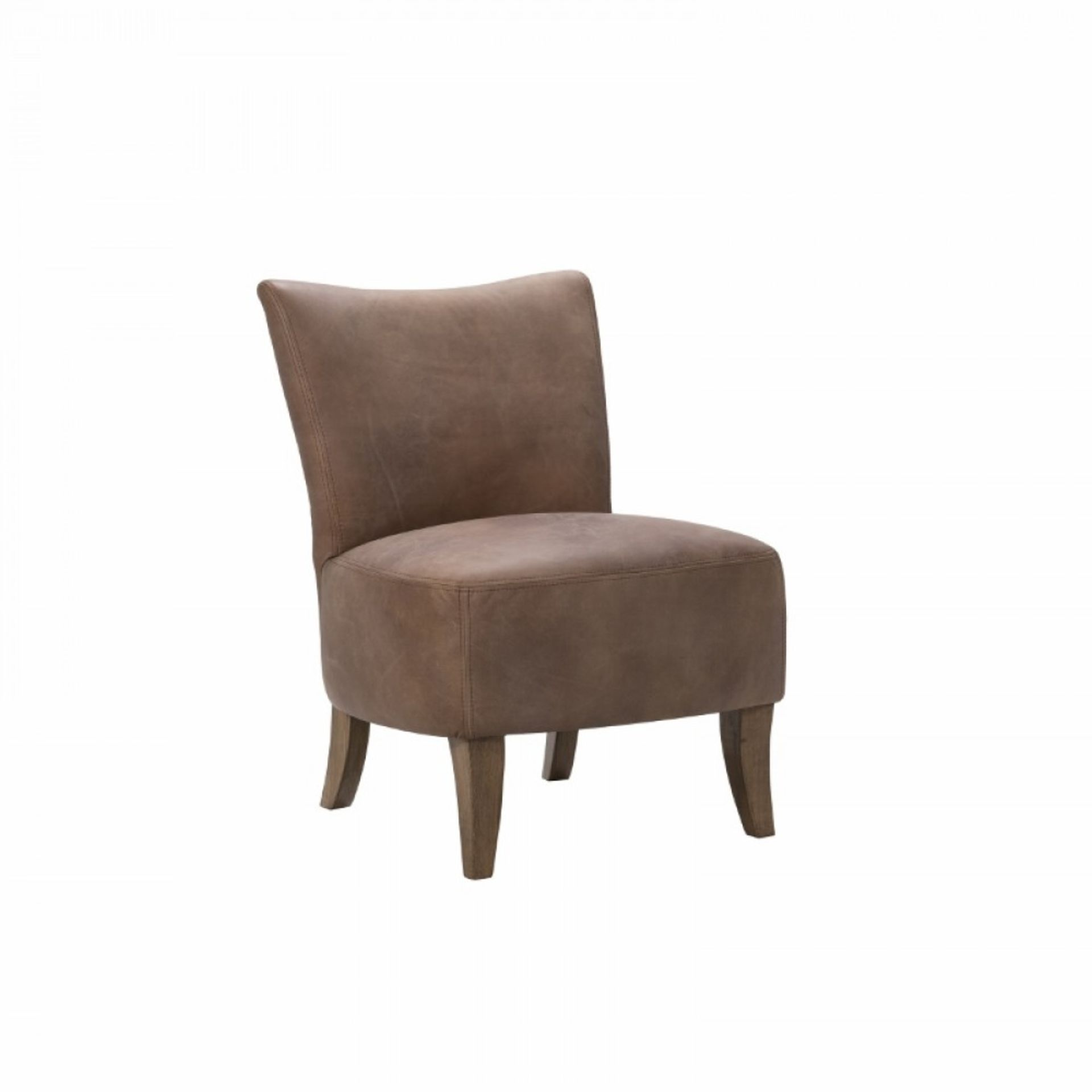 Lot 8 - Mere Armchair Black Leather The Mere Chair Is A Compact, Simple Slipper Chair Featuring Curved