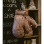 Lot 437 - Timothy Oulton Sporting Boxing Glove – Pair Hand Stitched And Handcrafted In Burnished Vintage