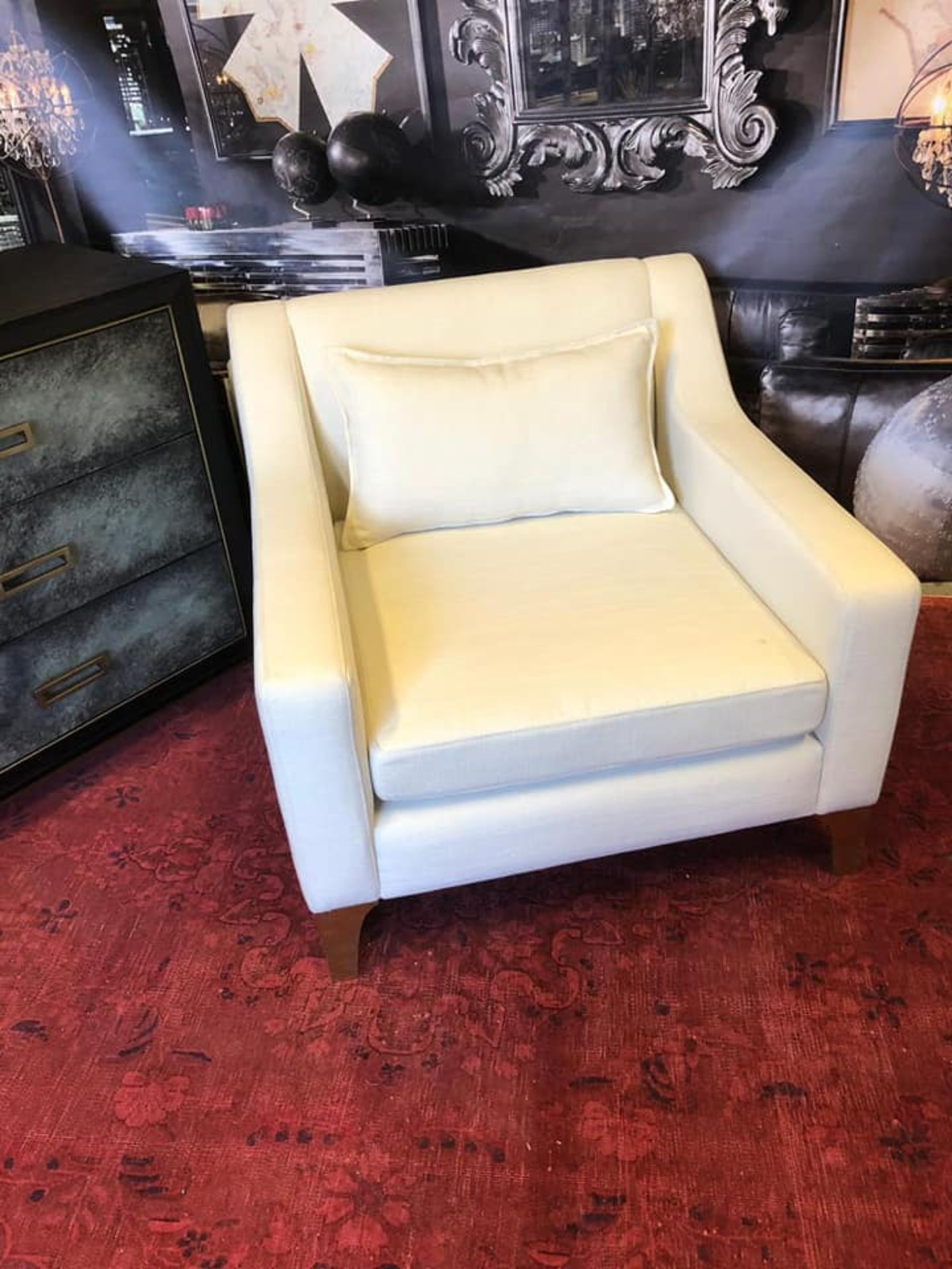 Lot 54 - Lowrider Armchair Nena Ivory Style Meets Comfort In This Piece: A Classic Armchair Silhouette With