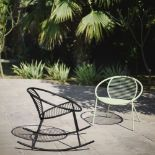 Lot 1410 - Finsbury Garden Rocking Chair, Pastel Matt Black Steel By Swoon Editions (brand new boxed) (brand