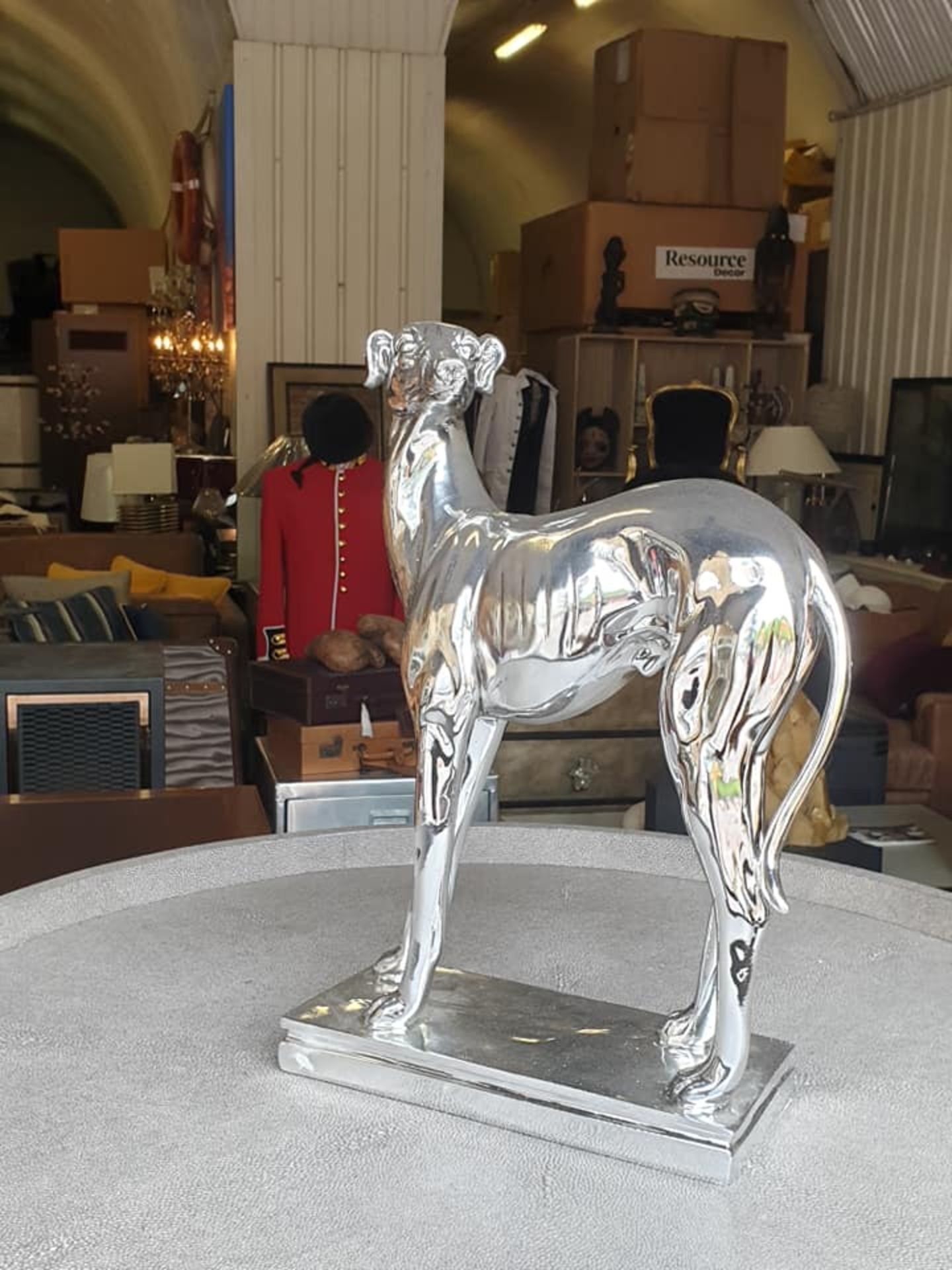 Lot 38 - Large Electroplated Greyhound This Unique Aesthetically Pleasing Electroplated Bulldog Is Perfect