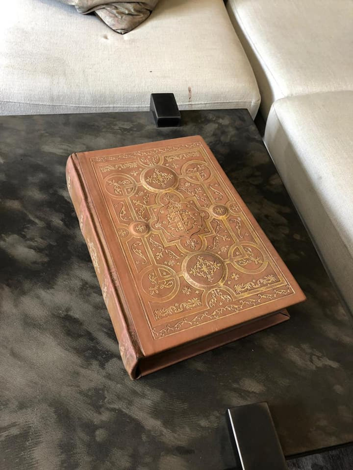 Lot 30 - Comments Book Vintage Cigar Leather Bound Inspired By The Library Of Historic Blenheim Palace This