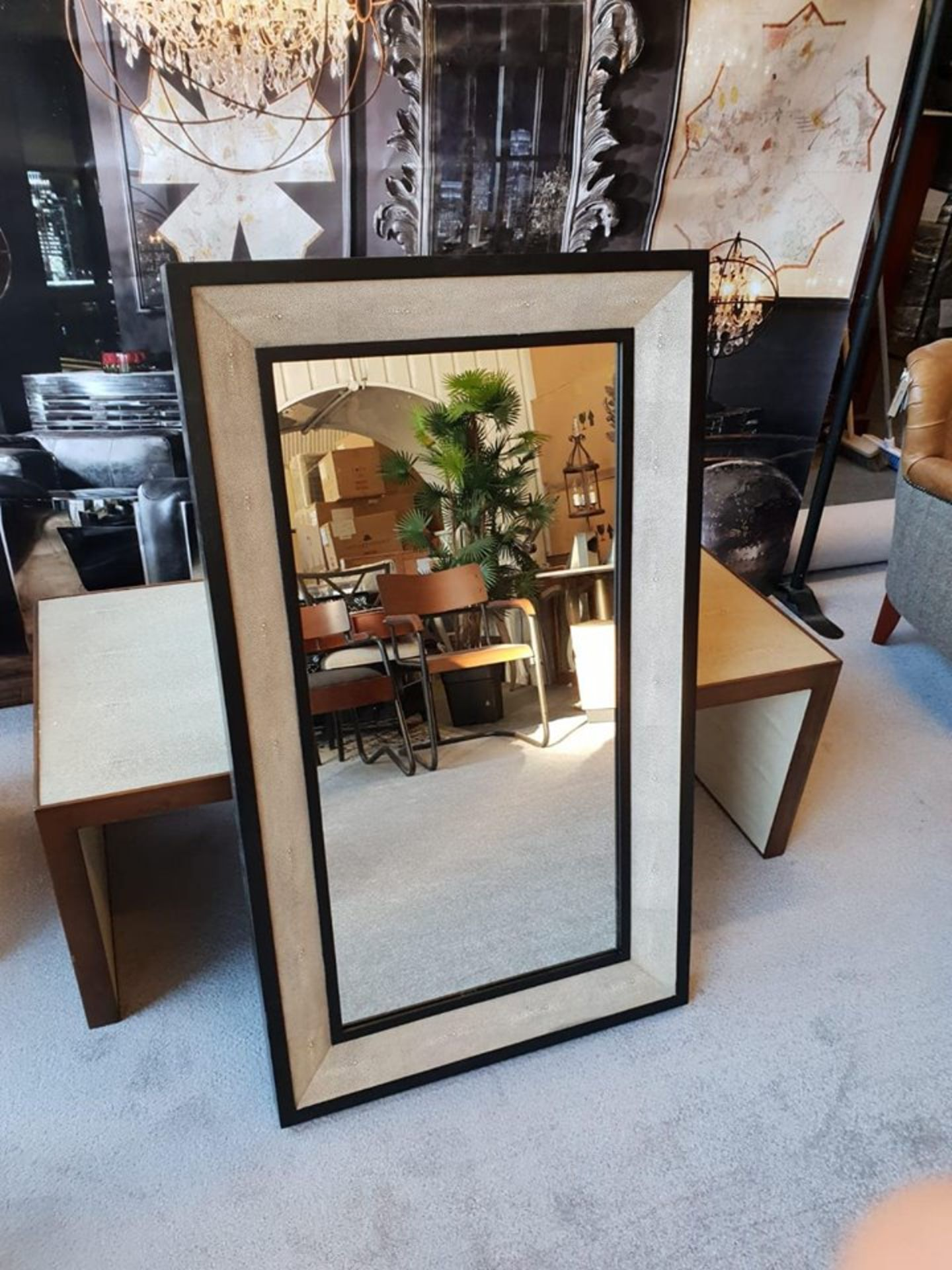 Lot 40 - Hutchinson Rectangular Mirror The Mirror Is Panelled With Distinctive Shagreen Hide Revealing An