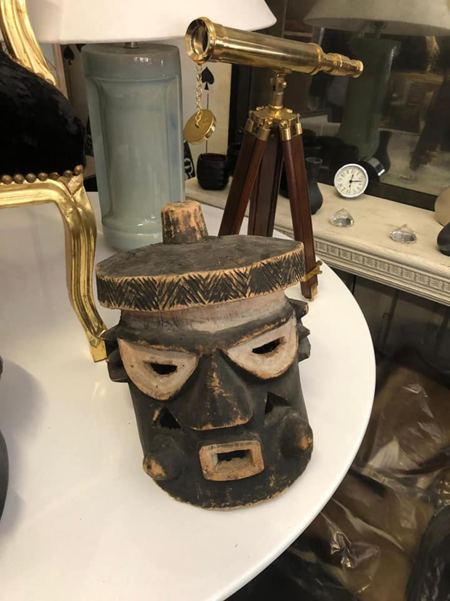 Lot 16 - African Wood Caving Mask 30 x 25 x 25cm
