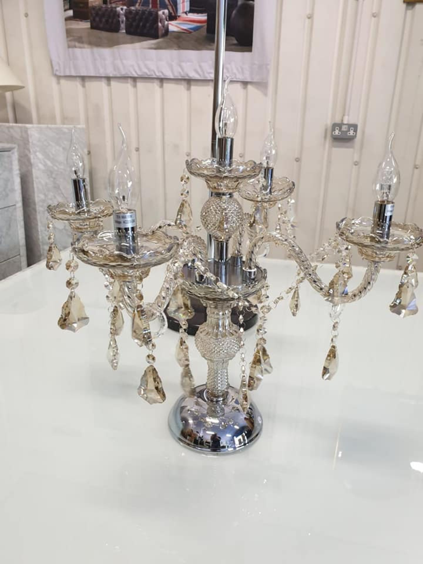 Lot 44 - Crystal Table Lamp The Crystal Lighting Collection Is Inspired By The Elaborate Designs Of Late