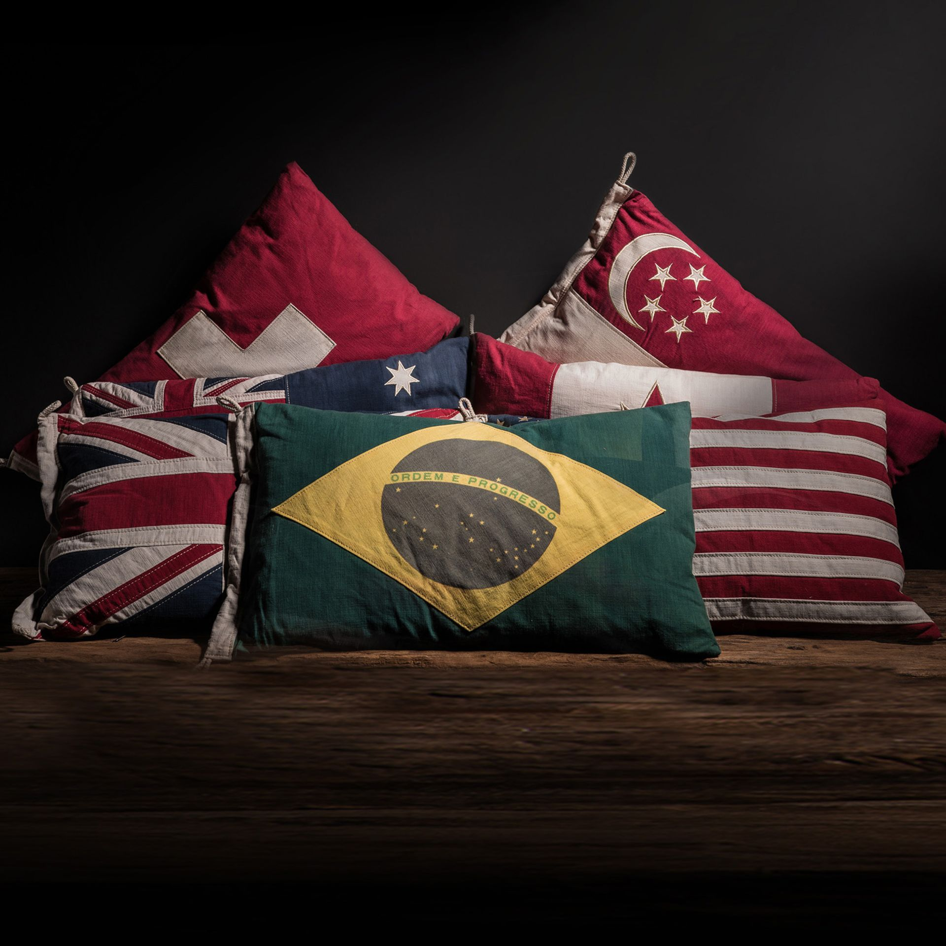 Lot 27 - Flag Cushion Brazil Flags Enable Bold Statements On Affiliations Roots Origin History Or Aspirations