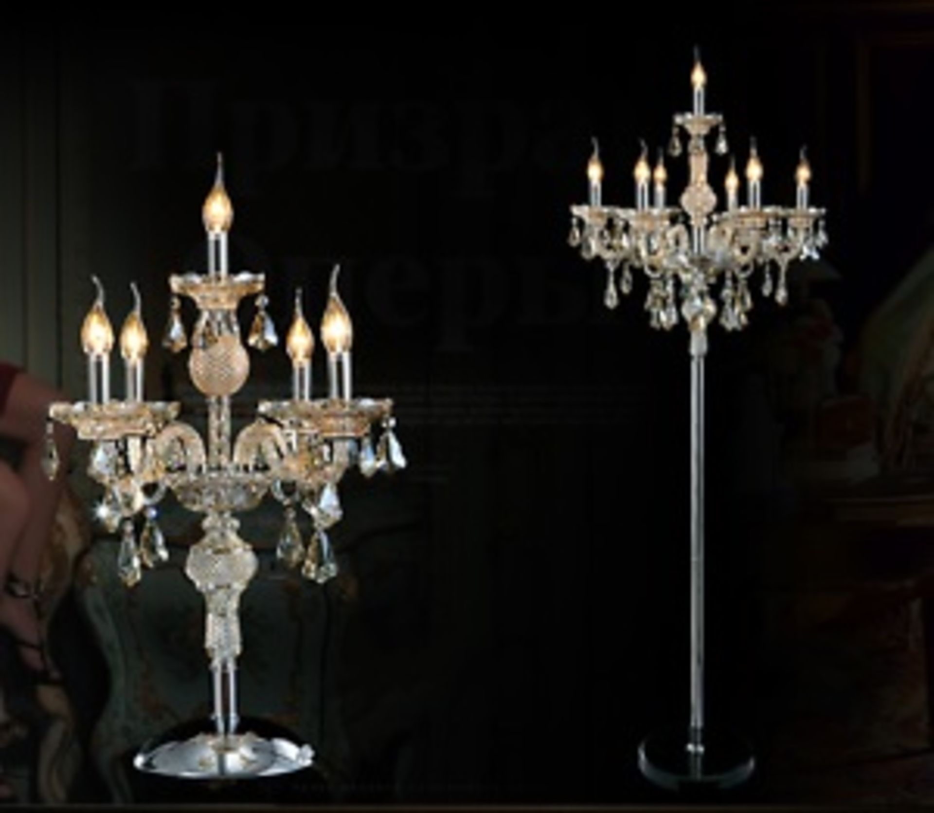 Lot 52 - Crystal Floor Lamp The Crystal Lighting Collection Is Inspired By The Elaborate Designs Of Late